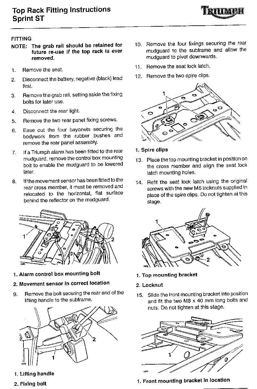 triumph speed triple parts diagram triumph sprint st parts